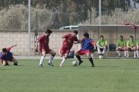 Partido de fútbol masculino UCO-USE en el Estadio Universitario Monte Cronos de Rabanales