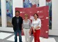 De izquierda a derecha, Pablo Rabasco, Marisa Ruz y Mª Ángeles Hermosilla