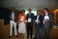 De izq a dcha: Rafael Astorga, Carmen Tarradas, Jose Carlos Gómez,Librado Carrasco y Manuel Gutiérrez