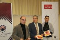 De izq a dcha:Luis Medina, Melchor Guzmán y Carmen González