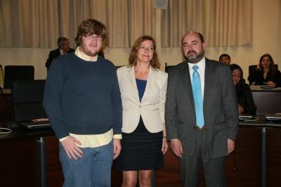 De izda. a dcha., Juan Miguel Almansa, Anabel Carrillo y Manuel Torres en la inauturación del seminario sobre empleo