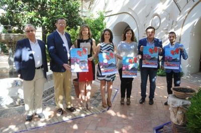 Autoridades en la presentación de la actividad 'Reflejos de Iznájar'