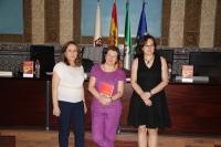 De izquierda a derecha, María Rosal, Laura Freixas y Mª Ángeles Hermosilla