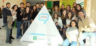 Alumnos de 1º de CyTA entre los que se encuentran varios Erasmus procedentes de Italia