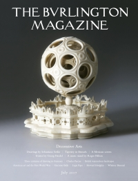 Portada de The Burlington Magazine