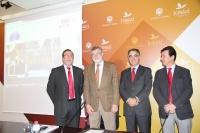 De izquierda a derecha, Franciso Gracia, José Manuel Roldán, José Antonio Cristóbal y Justo Castaño, en la presentación de las actividades de la Cátedra