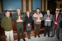 De izq a dcha, Bartolomé Olivares, Juan Manuel Fernández, Carmen Galán, Fernando Lara,Manuel Ferreras y Jose Ignacio Expósito
