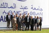 Miembros de la delegación en Tetuán