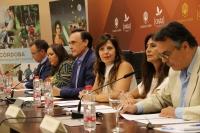 De izquierda a derecha, Eulalio Fernández, Ana María Carrillo, José Carlos Gómez Villamandos, Mª del Mar Téllez, Pilar Cielos y Leónidas Cabrera, en la presengtación del proyecto.