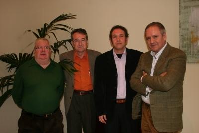 De izq. a dcha Enrique Aguilar, Manuel Requena, Francisco Acosta y Angel Gómez Moreno
