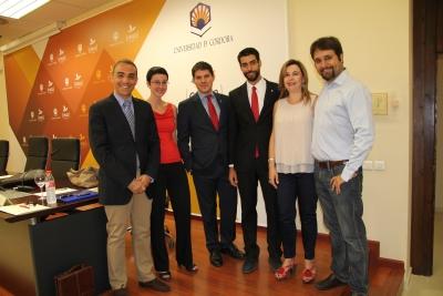 De izq a dcha, Alfonso Zamorano, Nuria Magaldi, Gonzalo Herreros, Jorge Lucena, Rosario Mérida y Manuel Bermúdez