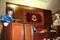 El director general de universidades de la Junta de Andalucía, Manuel Torralbo, en un momento de su intervención