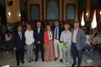 Rosario Mérida junto a los profesionales de la nutrición y el deporte