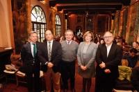 De izquierda a derecha, Rafael Jordano, Enrique Garrido, Alfonso García-Ferrer, Julieta Mérida y Eduardo Ramos en la inauguración de la jornada.