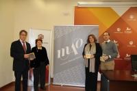 De izqda. a dcha., Juan Pastor, Fanny Rubio, Mª Carmen Balbuena y Blas Sánchez