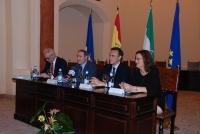 De izquierda a derecha Jose Manuel de Bernardo, Jose Antonio Ruiz, Jose Carlos Gómez y Reyes Lopera