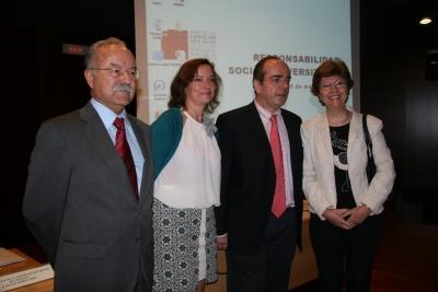 De izq. a dcha. Manuel Morón, Anabel Carrillo, Francisco Trigueros y Julia Angulo