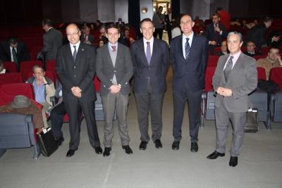 De izquierda a derecha, Antonio Cubero, Francisco Zambrana, José Carlos Gómez Villamandos, Manuel Vaquero y  Fernando Palomares, al inicio de las jornadas