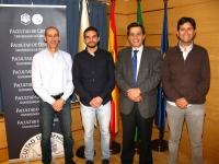 De izq. a dcha. Alberto Redondo, Javier Reyes, Manuel Blázquez y Antonio Gomera