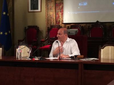 El filósofo iraní Ramin Jahanbegloo durante la segunda jornada del curso