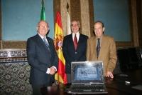 De izqda. a dcha., Diego Santiago,  Miguel Jacinto Márquez y Antonio Rodero