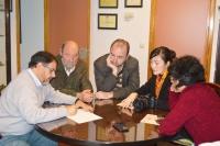 Directivos de la Facultad de Veterinaria y miembros de la delegación durante una de las reuniones celebradas
