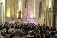 Un momento de la actuacion conjunta de ambos coros
