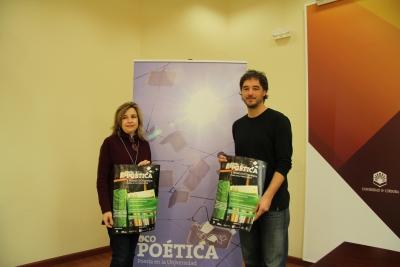 Rosario Mérida y Pablo Rabasco en la presentación de Ucopoética