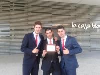 De izq a dcha:Alvaro Ortega, Jorge Lucena y Carlos Camacho