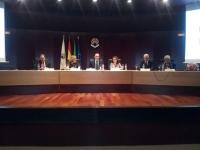 Presidencia del acto. De izq a dcha Blas Sánchez, Julieta Mérida, Jose Carlos Gómez, Isabel Baena, Jose Juan Aguilar y Maria José Porro