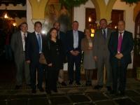 La delegación de Coventry con dirigentes de la Junta, UCO y Rabanales 21