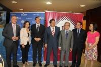 Autoridades asistentes a la inauguración del foro que ha acogido el Rectorado de la Universidad de Córdoba