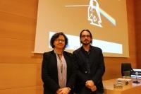 María Teresa Roldán, vicerrectora de Investigación, y Emilio García, del Instituto de Astrofísica de Andalucía