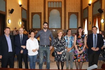 Autoridades y familiares de José Ignacio Benavides, al inicio del acto