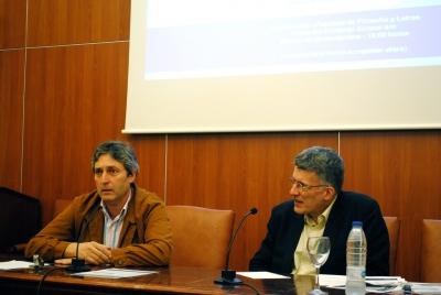 Un momento de la conferencia de Juan Pedro Monferrer