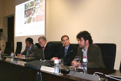 De izquierda a dcha., Alfonso García Ferrer, José Manuel Roldán, Luis Grueso y Guillermo Palacios