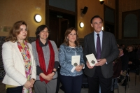 De izquierda a derecha, Rosario Mérida, Mª Luisa Calero, María Rosal y José Carlos Gómez Villamandos.