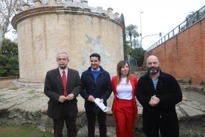 De izqda. a dcha. Desiderio Vaquerizo, Pedro García; Ana Ruiz y Luis Medina Canalejo