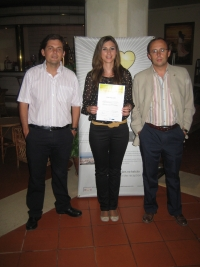 De izqda. a decha., Emilio Camacho, Teresa Carrillo y Juan Antonio Rodríguez