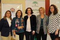 De izquierda a derecha: Beatriz Cados, María Rosal Nadales, Cristina García Comas, Montserrat de los Reyes y Lorena Ramos