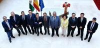 Integrantes del Consejo Andaluz de Unviersidades con el consejero Ramírez de Arellano