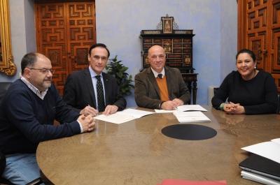 De izqda. a dcha. Librado Carrasco, José Carlos Gómez Villamandos, Antonio Ruiz y Mª Dolores Amo