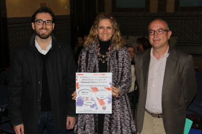 De izq a dcha: Jorge Alcántara, Elena Gómez y Victor Pavón