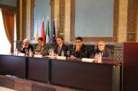 De izquierda a derecha, José María Vals, Eulalio Fernández, José Carlos Gómez Villamandos, Pablo García Casado y Pedro Poyato