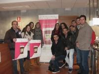 Estrella Rodríguez, con Emilio Camacho y alumnos participantes