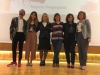 Foto de familia de los galardonados en la vigésima edición de los Premios Mujeres Progresistas 2017