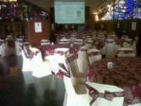 El salón Juan XXIII casi listo para la 'Café con Ciencia'