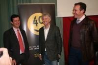 De izquierda a derecha, Justo Castaño, Juan Luis Arsuaga y Eulalio Fernández