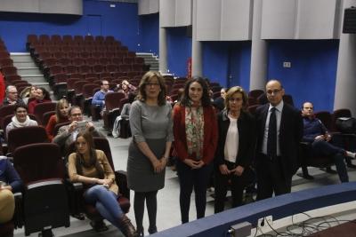 De izquierda a derecha, Julieta Mérida, Carmen Mª Gómez, Julia Muñoz y Antonio Ruiz.