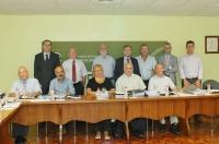 El comite cinetífico del IMIBIC momentos antes de iniciar su reunión